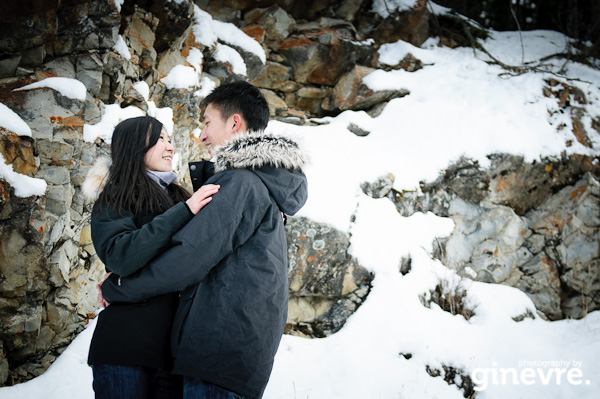Banff engagement photographero