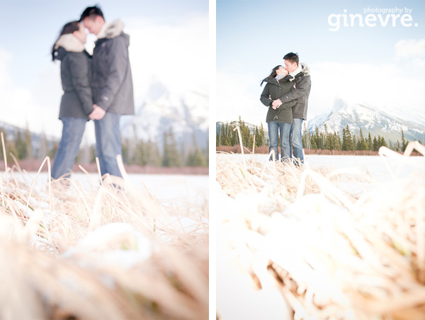 Banff engagement portrait
