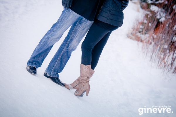 Lake Louise engagement portrait