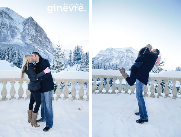 Lake Louise engagement pictures