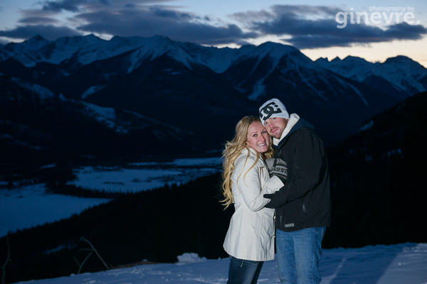 Banff engagement photo