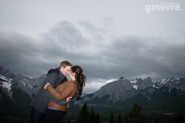 Canmore engagement photo