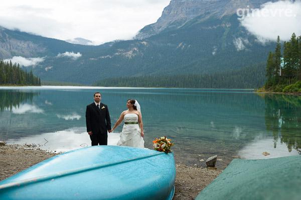 Emerald Lake elopement wedding