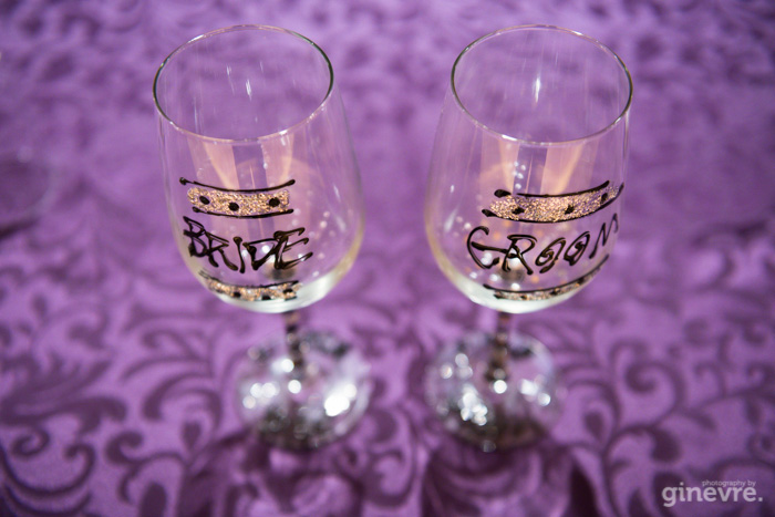 Canmore wedding bride groom glasses