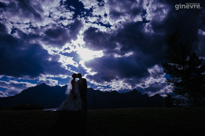 Canmore wedding photographer silhouette photo