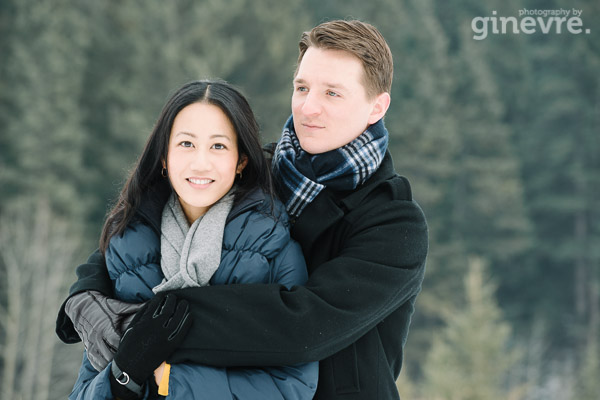 Canmore engagement photography by Ginevre
