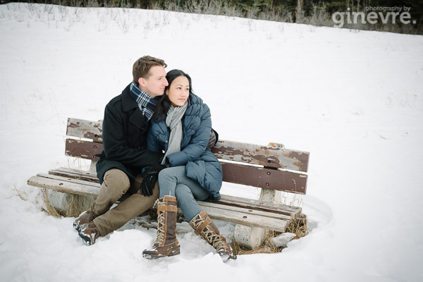 Banff engagement photography by Ginevre