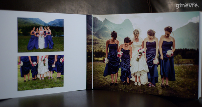 Canmore wedding album Queensberry studio sample