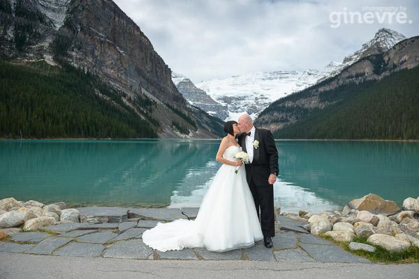 Wedding photos at Lake Louise