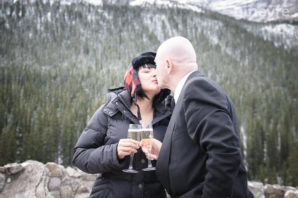 Wedding photos at Moraine Lake