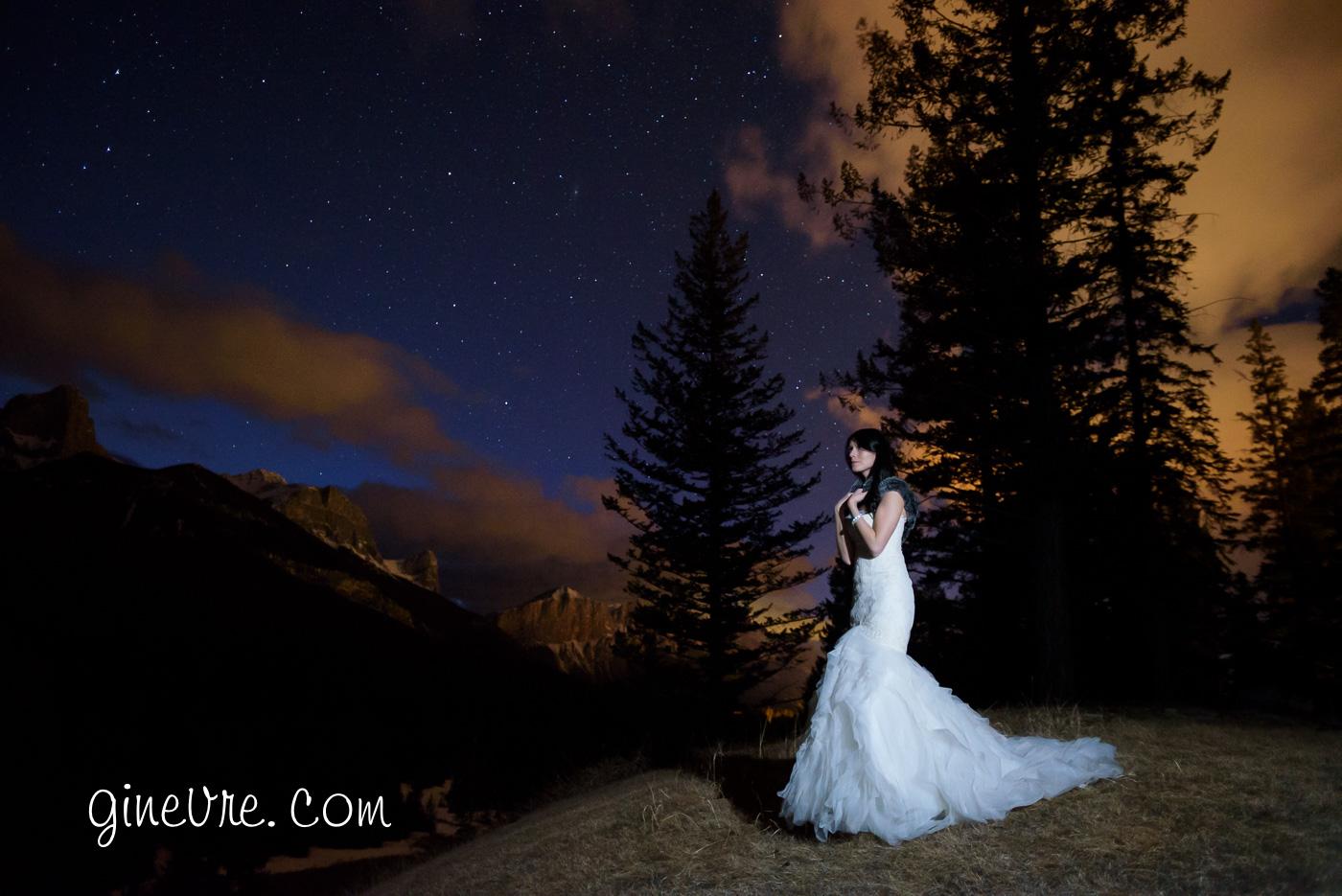 canmore wedding stewart creek night photo