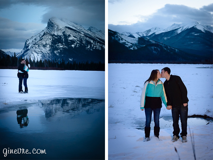 Rockies engagement in Canmore Alberta.