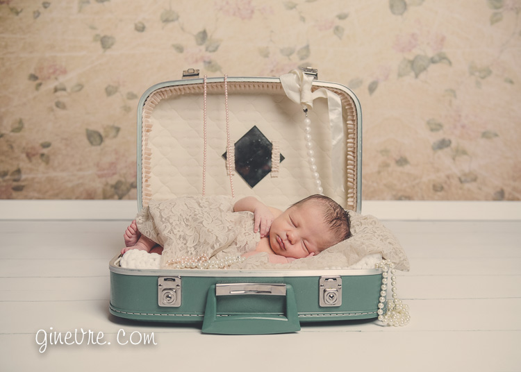 Newborn photography vintage