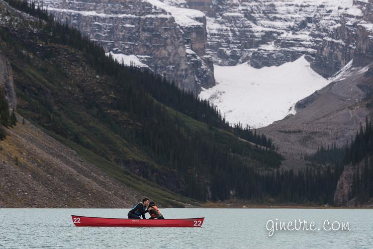 Lake Louise canoe proposal