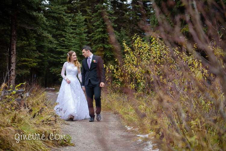Emerald lake wedding