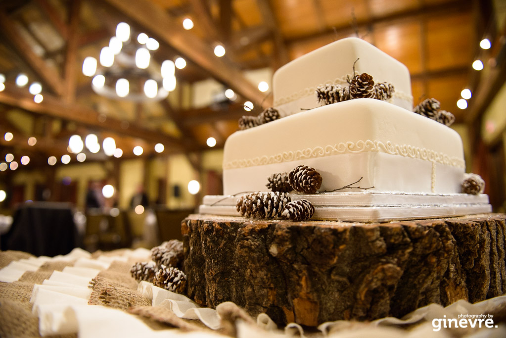Wedding cake at Silvertip Resort, Canmore, Alberta.
