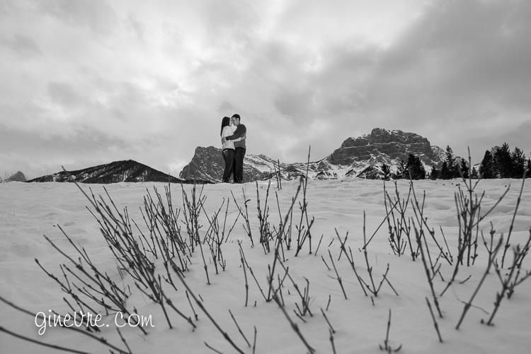 Rockies engagement in Canmore Alberta.