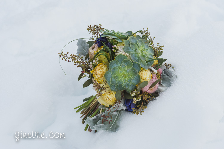 Canmore winter wedding flowers boquet