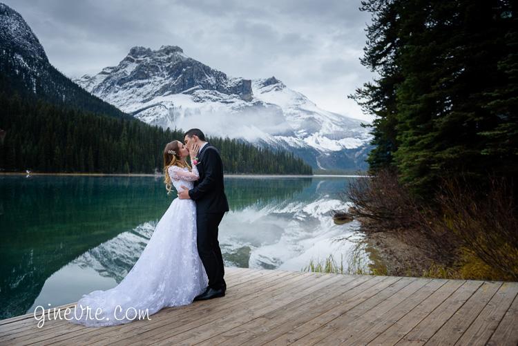 Emerald lake wedding
